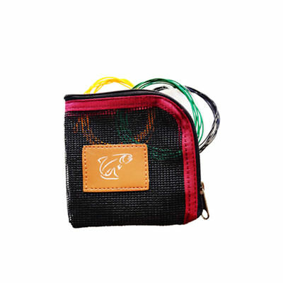 Fishoot Fly Fishing Tippet Mesh Wallet holder inc 3 x Trout Poly Leaders gift