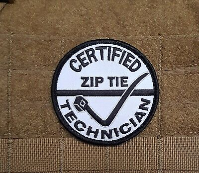 Day Pack / Tradie Airsoft Morale Patch - Certified Zip Tie Technician