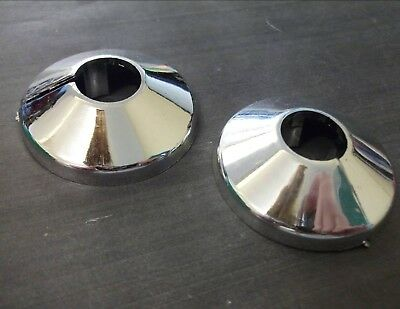 Radiator collars. Pack of 2. Surround finish. Chrome plated. *Top Quality!