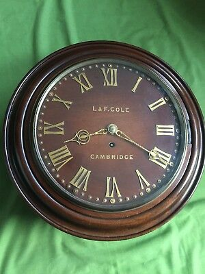A  English Fusee Passing Strike Dial Clock