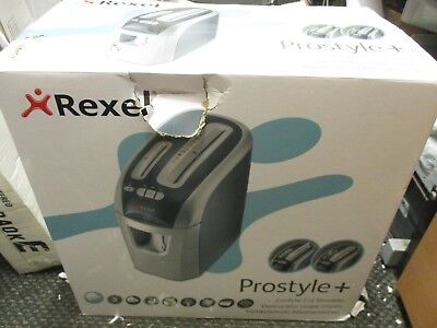 Rexel Prostyle+ Shredder - 4mm x 23mm Confetti Cut - Black+Silver