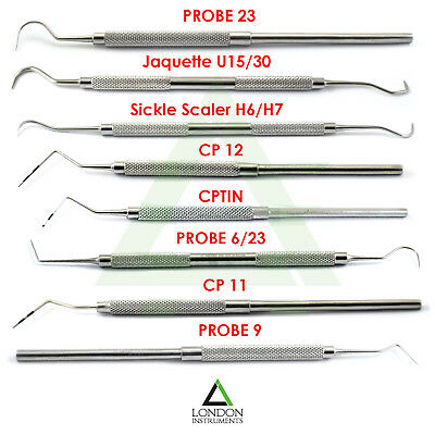 Dental Examination Cleaning Hygiene Kit Perio Probes Diagnostic Sickle Scaler CE