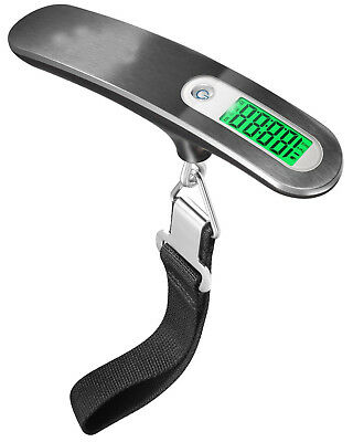 Mini Portable 110lb / 50kg LCD Digital Hanging Luggage Scale Electronic Weight