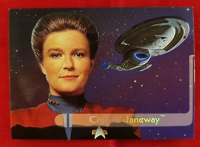 Star Trek Voyager Season One Series Two Captain Jainway Embossed Walmart card E1