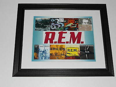 "Framed R.E.M. first 8 albums Cover Art , Murmur, Green, Time Poster 14"" by 17"""