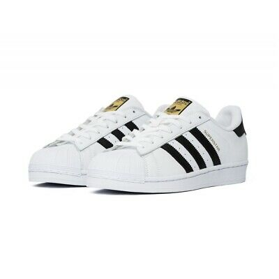 Adidas Superstar Originals C77124 Unisex Trainers Sneakers White Black Gold f7c6d7284b3