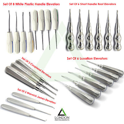Dental Tooth Extracting Luxating Coupland Elevators Proximate Oral Surgery CE