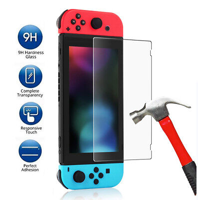 2 Pack Clear HD Tempered Glass Screen Film Guard Protector For Nintendo Switch