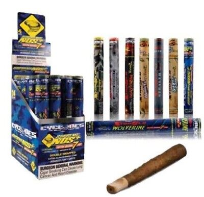 Cyclone WRAPS with Black Wooden Tip 2 PACKS X 12