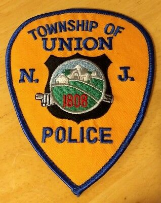 Township Of Union New Jersey Nj Njpd Pd 1808 Police Department Patch