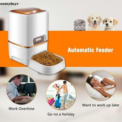 Automatic Pet Feeder Dog Cat food bowl dispenser Programmable Timer Control US~