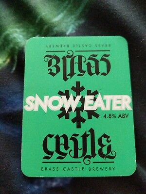 beer pump clip badge - Brass Castle Brewery Snow Eater Ale