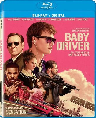 Baby Driver (Blu-ray Disc, 2017, Includes Digital Copy) Brand New