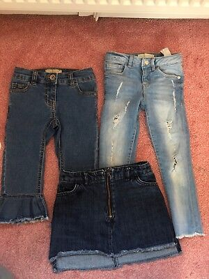 Girls 5yr Denim Bundle Jeans Skirt Next Zara