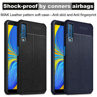 Imak Vega Series Airbag Faux Leather TPU Case Cover for Samsung Galaxy A7 (2018)