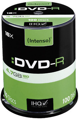 Intenso DVD-R Rohling 4.7GB 4101156 100 St. Spindel