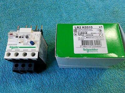 SCHNEIDER, Thermal Overload Relay, TeSys-023049, 2.8-3.7A, part LR2 K0310