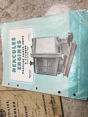 1955 Hercules Engine Manuals  Canton OH