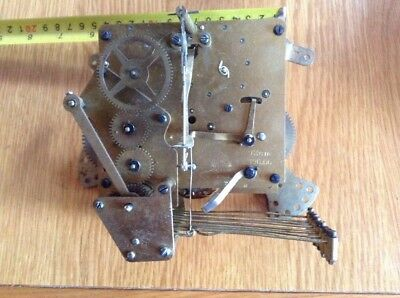 9 Hammer Original Vintage HALLER Mantel Clock Movement (Working)