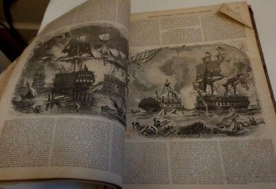 Bound volume of the Ballou's Pictorial Jan. 13- June 30, 1855 Prints!