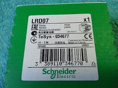 SCHNEIDER Electric, Relay, TeSys-034677, 1.6-2.5A, part LRD07