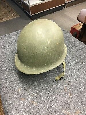 WW2 M-1 Helmet and Liner - ID'd