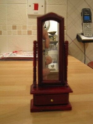 Dolls house 1/12th scale cheval mirror