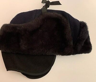Vintage 1990's CANADA POST Men's Mailman Winter Cap Hat Blue  7 1/8 RARE