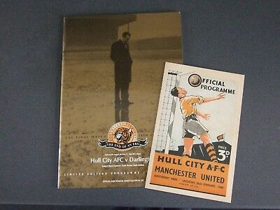 Hull City Last Game Boothferry Park Programme Gold Edition + Man Utd 1949 Reprin