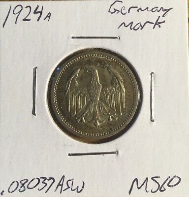 1924 A Germany Silver Mark