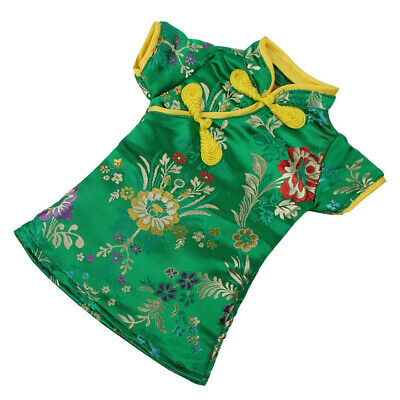 Handmade Green Chinese Traditional Dress For 18'' Doll Clothes Cheongsam