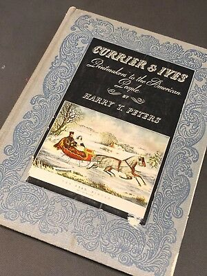 """Currier and Ives""""Printmakers to the American People"""" Vintage Book circa 1943"""
