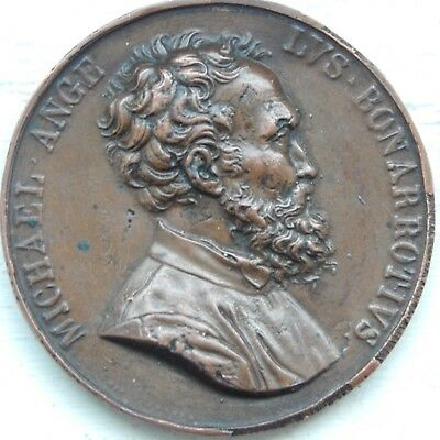 A fine large uniface medal of Michelangelo-probably a 19th century electrotype
