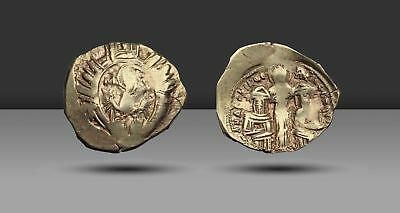 Andronicus II Palaeologus, with Andronicus III, 1282-1328. Electrum Hyperpyron
