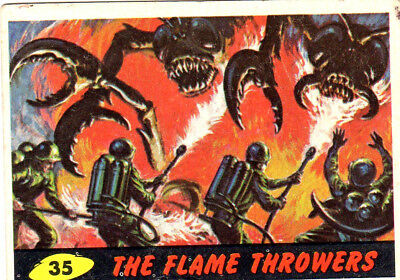 1962 Topps / Bubbles Inc Mars Attacks #35 The Flame Throwers  AUTHENTIC