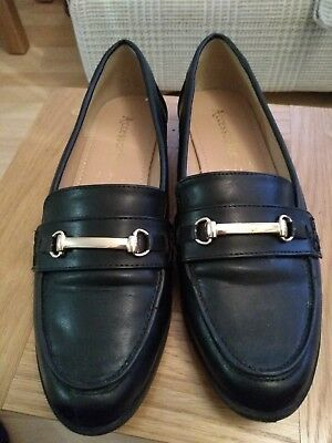 Ladies Accessorize Loafers, Navy Blue, Size 6