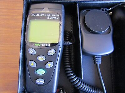 NEW & BOXED ISOTECH ILM209M LUX/FC Multi-LED Light Meter - Bargain J11 8765178