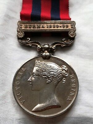 Victorian IGS Medal with Burma 1889-92 clasp to 2215 Pte William Hollings DCLI