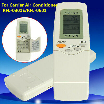 Universal White Remote Control For Carrier RFL-0301E RFL-0601 Air Conditioner