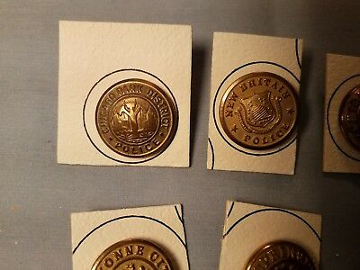 Antique Collectible Mixed Lot Of Metal Police Buttons