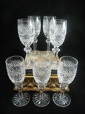 "(7) Stunning Waterford Crystal 6-3/8"" Sherry Aperitif Glasses Unknown Pattern"