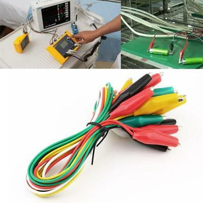 10pcs Alligator Clips Electrical DIY Test Leads Double-ended Crocodile Clips BT