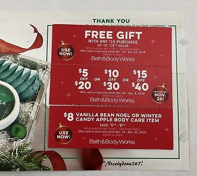 BATH and BODY WORKS COUPONS (Save-Save-Save!) 3 coupons Exp. Dec. 24th