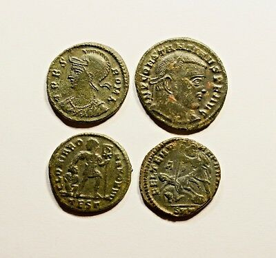 She Wolf!!! Stunning Lot Of 4 Roman Imperial Coins - Nice Quality
