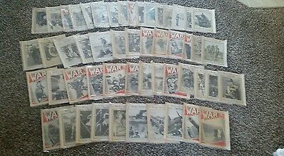 VINTAGE LOT 52 THE WAR ILLUSTRATED MAGAZINE 1930s-40s WW2 MILITARY