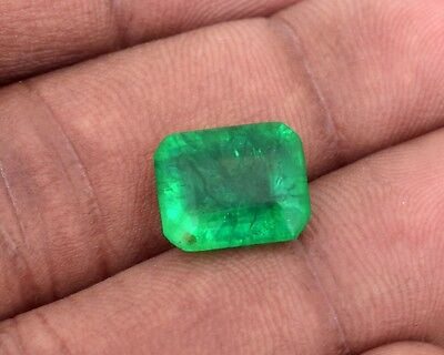 Stunning Natural Green Emerald 6.25 Cts. GGL Certified Emerald Shape Gemstone