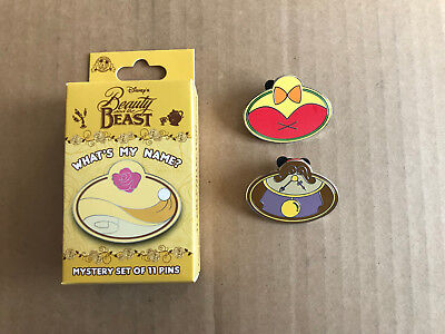Disney DLR Cast Exclusive What's My Name? Beauty the Beast Bimbette, Cogsworth