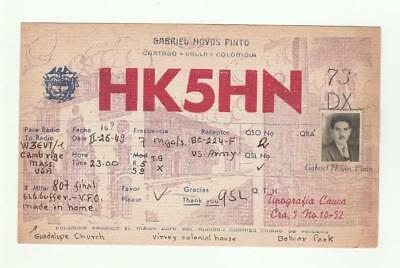 HK5HN QSL Card Colombia 1949