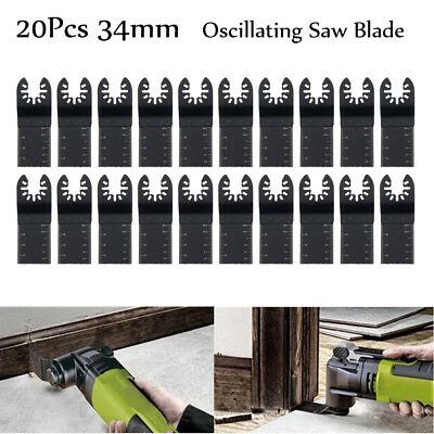 20Pcs 34mm Oscillating Multi Tool Saw Blades Carbon Steel Cutter DIY Universal