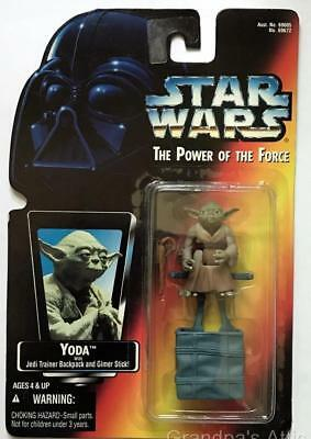 Star Wars POTF Red Card ~ YODA ~ 1995 Kenner Figure ~ Unopened